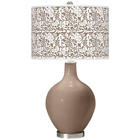 Mocha Gardenia Ovo Table Lamp