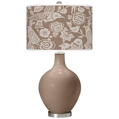 Mocha Aviary Ovo Table Lamp