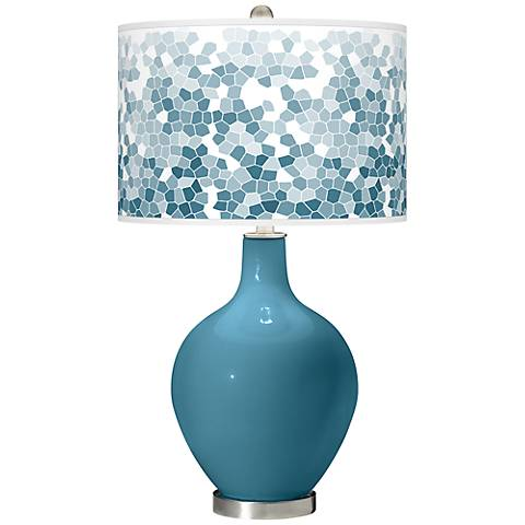 Great Falls Mosaic Giclee Ovo Table Lamp