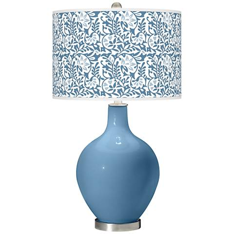 Secure Blue Gardenia Ovo Table Lamp