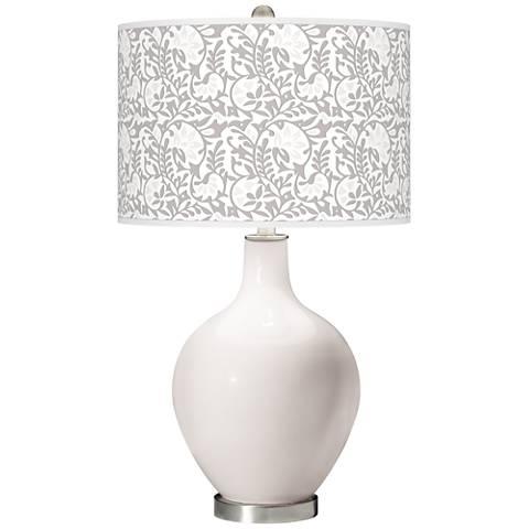 Smart White Gardenia Ovo Table Lamp