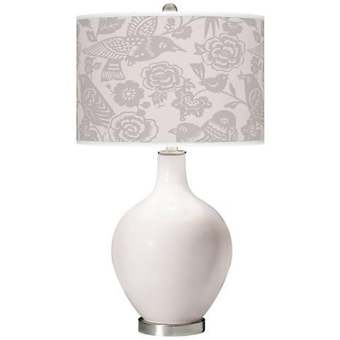 Smart White Aviary Ovo Table Lamp