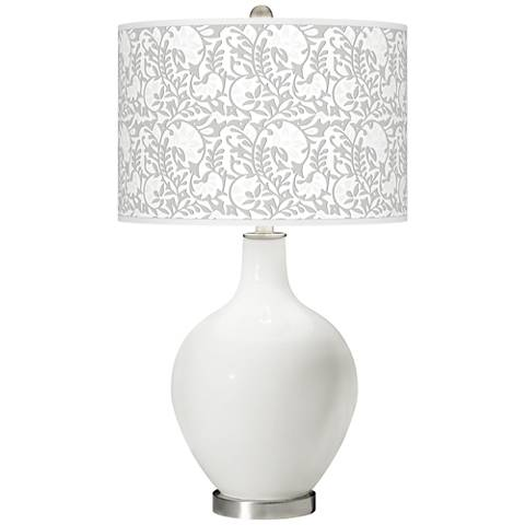Winter White Gardenia Ovo Table Lamp