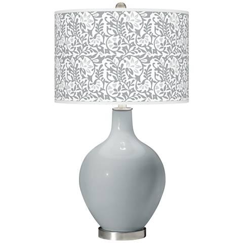 Uncertain Gray Gardenia Ovo Table Lamp