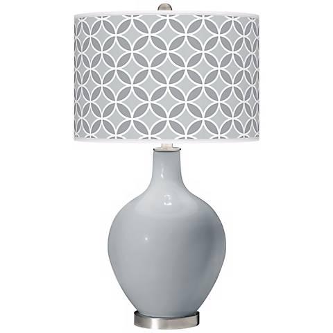 Uncertain Gray Circle Rings Ovo Table Lamp