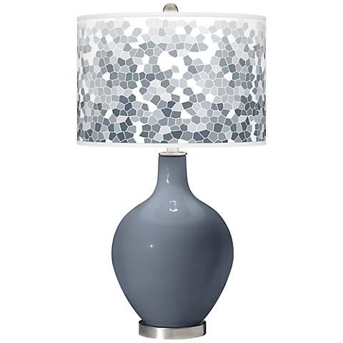 Granite Peak Mosaic Giclee Ovo Table Lamp