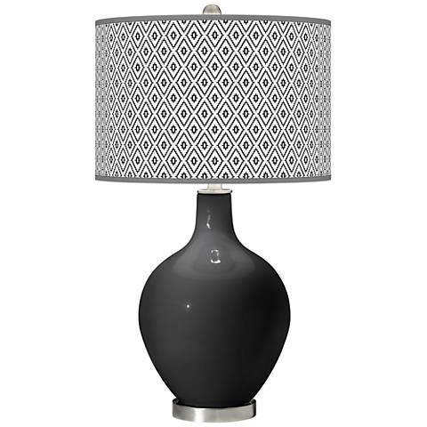 Tricorn Black Diamonds Ovo Table Lamp