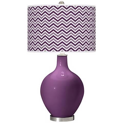Kimono Violet Narrow Zig Zag Ovo Table Lamp