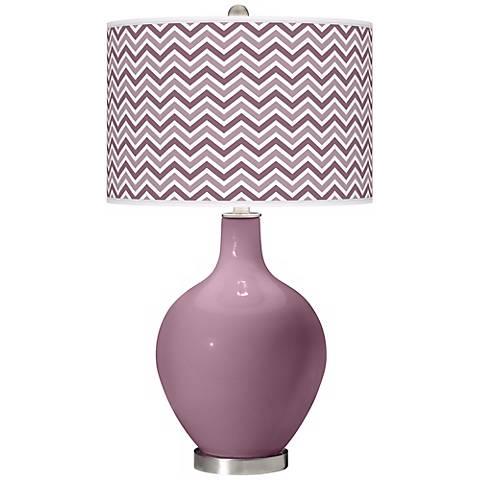 Plum Dandy Narrow Zig Zag Ovo Table Lamp