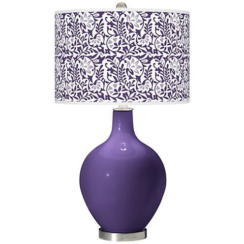 Izmir Purple Gardenia Ovo Table Lamp