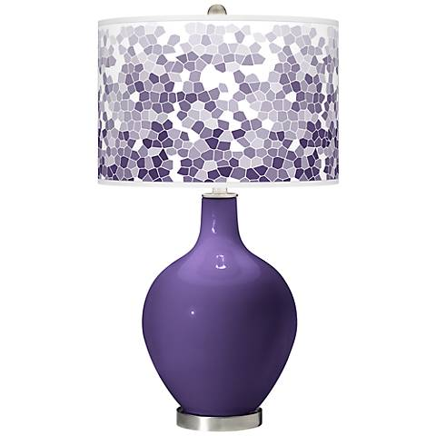 Izmir Purple Mosaic Giclee Ovo Table Lamp