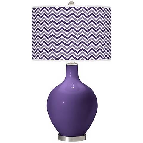 Izmir Purple Narrow Zig Zag Ovo Table Lamp