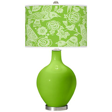 Neon Green Aviary Ovo Table Lamp