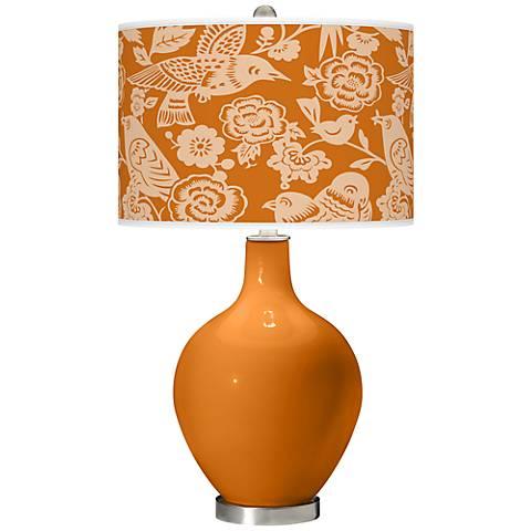 Cinnamon Spice Aviary Ovo Table Lamp