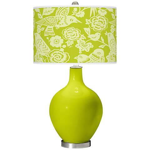 Pastel Green Aviary Ovo Table Lamp