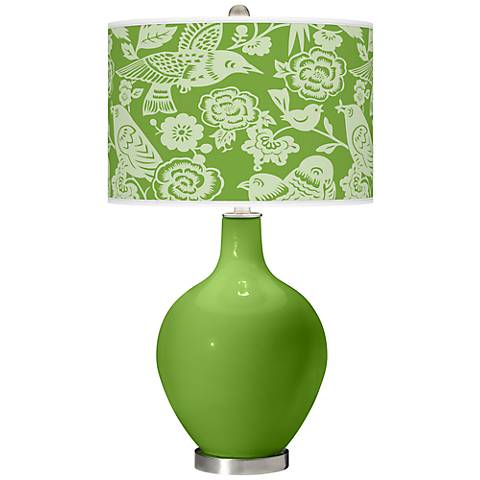 Rosemary Green Aviary Ovo Table Lamp