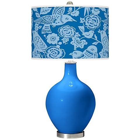 Royal Blue Aviary Ovo Table Lamp