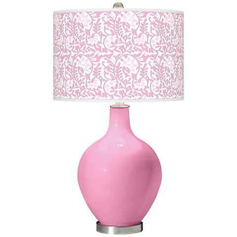 Pale Pink Gardenia Ovo Table Lamp