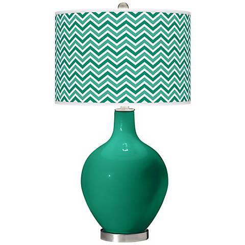 Leaf Narrow Zig Zag Ovo Table Lamp