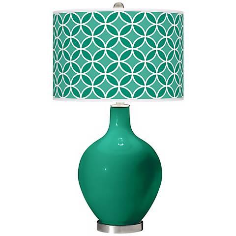Leaf Circle Rings Ovo Table Lamp