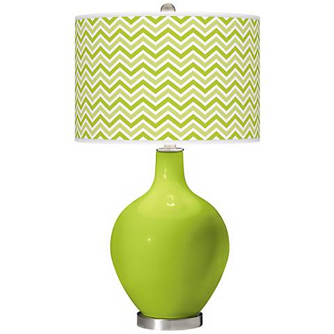 Tender Shoots Narrow Zig Zag Ovo Table Lamp