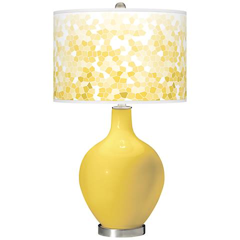 Lemon Zest Mosaic Giclee Ovo Table Lamp