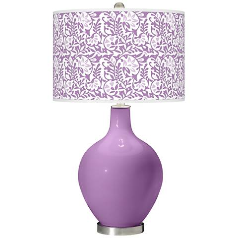 African Violet Gardenia Ovo Table Lamp