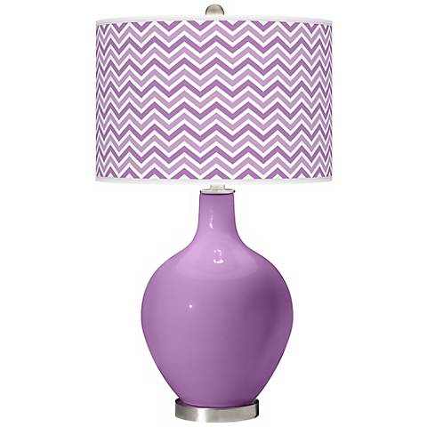 African Violet Narrow Zig Zag Ovo Table Lamp