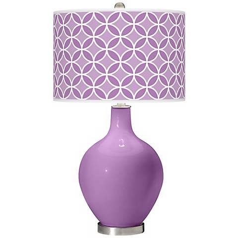 African Violet Circle Rings Ovo Table Lamp