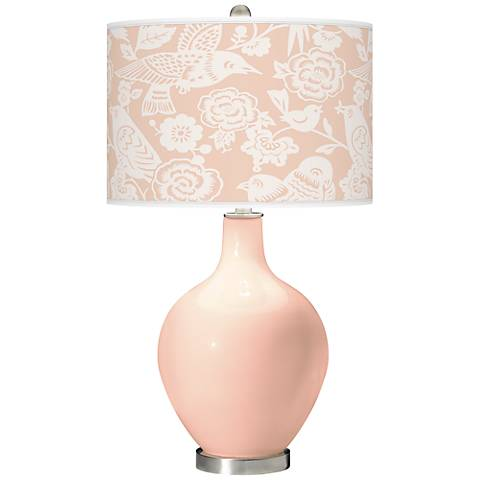 Linen Aviary Ovo Table Lamp