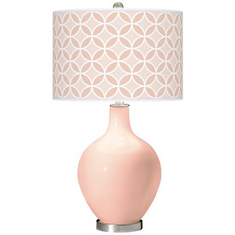 Linen Circle Rings Ovo Table Lamp
