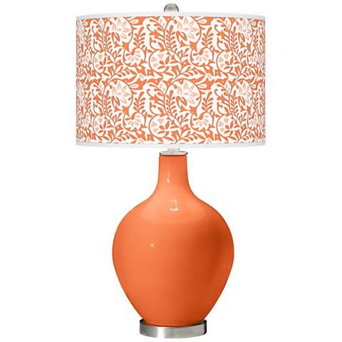 Nectarine Gardenia Ovo Table Lamp
