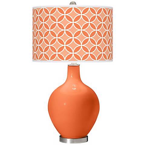 Nectarine Circle Rings Ovo Table Lamp