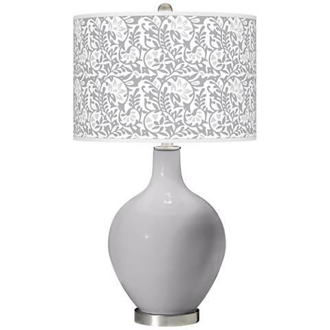 Swanky Gray Gardenia Ovo Table Lamp