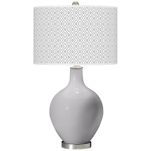 Swanky Gray Diamonds Ovo Table Lamp