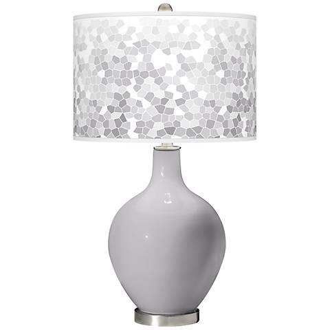 Swanky Gray Mosaic Giclee Ovo Table Lamp