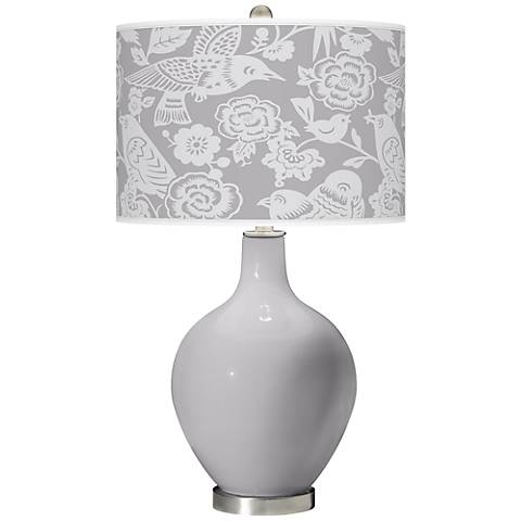 Swanky Gray Aviary Ovo Table Lamp