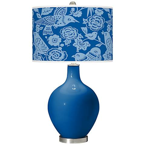 Hyper Blue Aviary Ovo Table Lamp