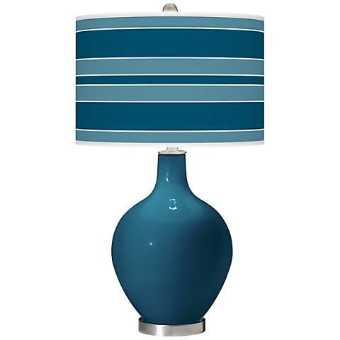 Oceanside Bold Stripe Ovo Table Lamp