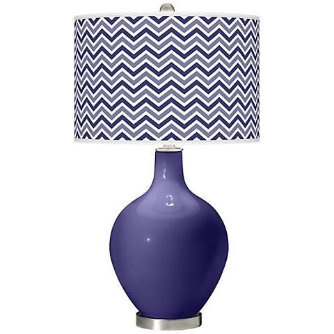 Valiant Violet Narrow Zig Zag Ovo Table Lamp