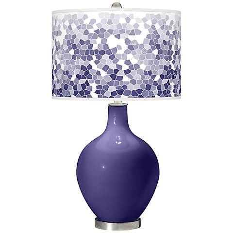 Valiant Violet Mosaic Giclee Ovo Table Lamp
