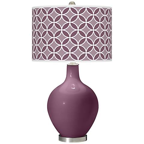 Grape Harvest Circle Rings Ovo Table Lamp
