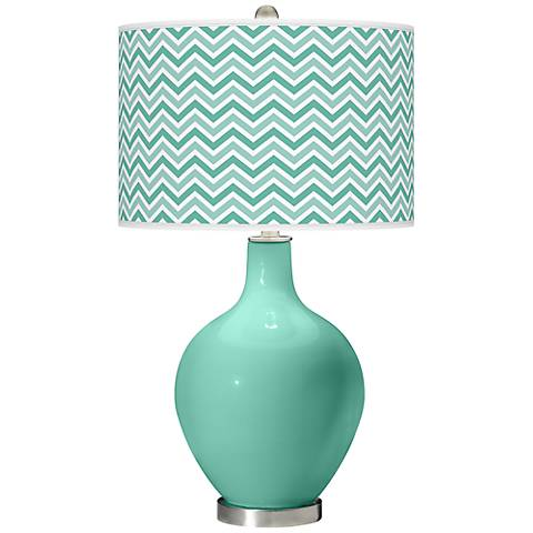 Larchmere Narrow Zig Zag Ovo Table Lamp