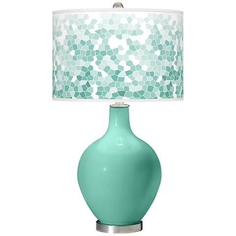 Larchmere Mosaic Giclee Ovo Table Lamp