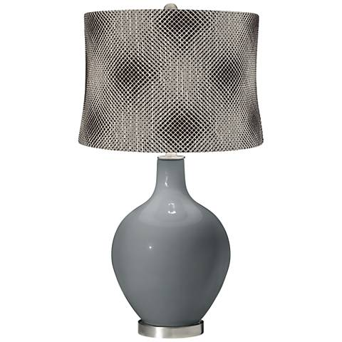 Software Black Pixels Shade Ovo Table Lamp
