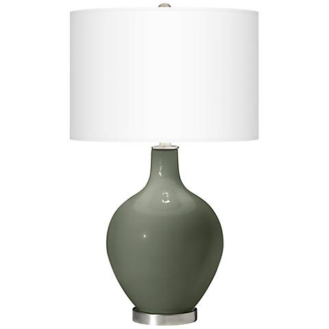 Deep Lichen Green Ovo Table Lamp