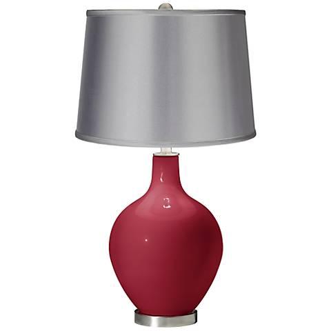 Samba - Satin Light Gray Shade Ovo Table Lamp