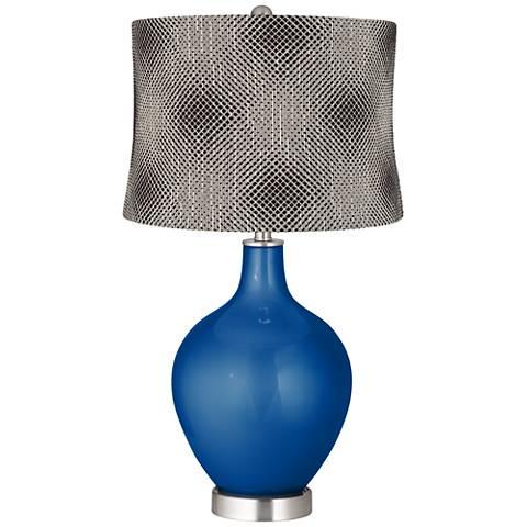 Ocean Metallic Black Pixels Shade Ovo Table Lamp