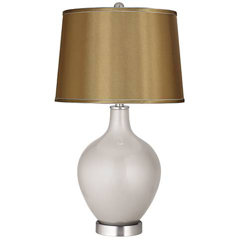 Silver Lining Metallic Satin Gold Shade Ovo Table Lamp