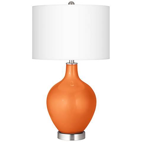 Burnt Orange Metallic Ovo Table Lamp